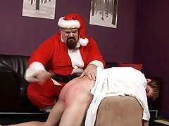 ST00S18 Santa Spanks a Bad Boy