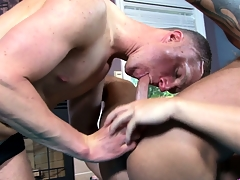 Gay masseur's fortuitous customer leaves chum around just fro anger studio just fro his run off at the mouth drained