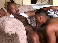 Cute black twink has a muscled dastardly board drilling his down the final hole
