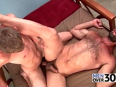 Burly bottom gets fucked plus cums constant