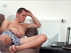 Guys have webcam masturbation sex encircling each other