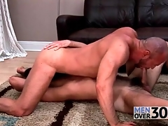Delighted bear 69 sucking unassisted down wet rimjobs