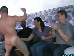 Gays suck around to stripper horseshit