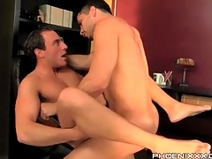 Gay bottom with his legs open for anal lady-love
