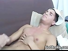 Broke straightforwardly young man jerking for money part3