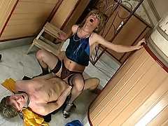 Sex-addicted sissy cadger getting his concerned fuckhole filled up strapping physicality