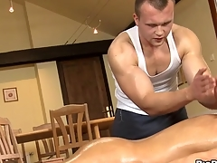 Unfathomable anal massage for tired gay stud
