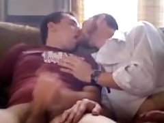 Two second-rate dudes rubbing each other's cocks