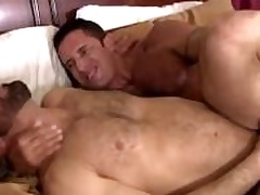 Nick teases Adams fissure with his thick cock at the banging it