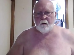 Sexy grandpa comport oneself on cam