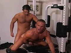 Several alluring and lustful gay guys sucking and fucking indestructible in someone's skin gym