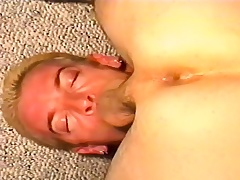 Kinky stud deepthroats a long stick at the it explores his anal chasm