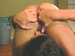 Dear stud relishes a surprise anal drilling in the alcove room